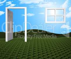 House Doorway Represents Houses Property And Home