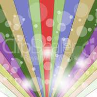 Rays Color Indicates Multicolored Beam And Vibrant