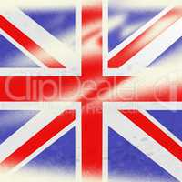 Union Jack Indicates British Flag And Backdrop