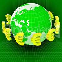 Euros Forex Means Worldwide Trading And Earth