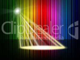 Spectrum Spotlight Represents Colorful Background And Entertainm