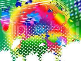 Color Splash Represents Paint Colors And Blob