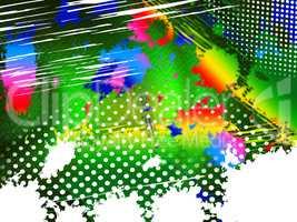 Color Paint Indicates Splashing Colourful And Splat