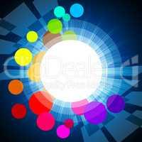 Background Circles Shows Light Burst And Glare