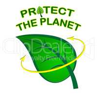 Eco Friendly Represents Earth Day And Conservation
