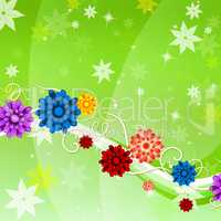 Background Flowers Represents Twist Backgrounds And Flora