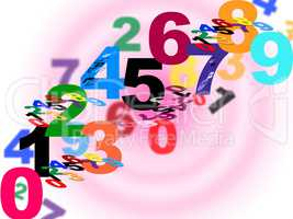 Numbers Counting Means Numeracy Numerical And Backdrop