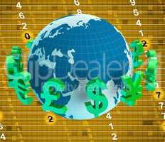 Forex Euros Indicates British Pound And Dollars