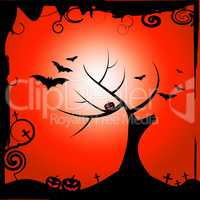 Bats Halloween Means Trick Or Treat And Autumn