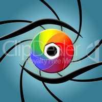 Eye Spectrum Indicates Colour Splash And Colourful