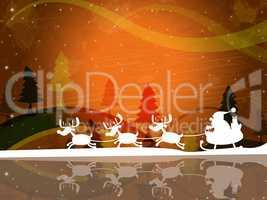 Xmas Santa Indicates Father Christmas And Celebration