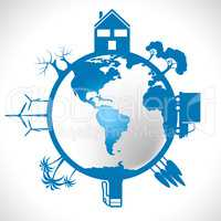 World Global Means Eco Friendly And Eco-Friendly