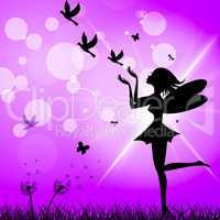 Freedom Fairy Represents Flock Of Birds And Elude