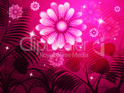 Copyspace Pink Represents Light Burst And Background