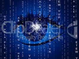 Eye Matrix Indicates Programming Computer And Optics