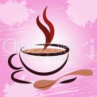 Hot Beverage Indicates Coffee Break And Cafeteria
