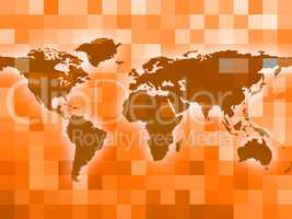 World Map Indicates Countries Backdrop And Template