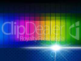 Color Glow Shows Visible Spectrum And Chromatic