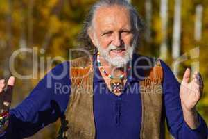 Elderly active man