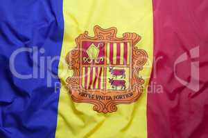 Textile flag of Andorra