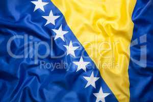 Textile flag of Bosnia and Herzegovina