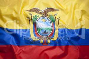 Textile flag of Ecuador