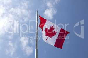 National flag of Canada on a flagpole