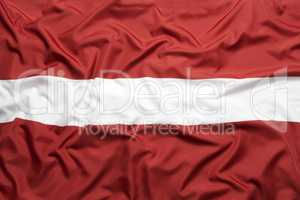 Textile flag of Latvia