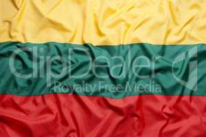 Textile flag of Lithuania