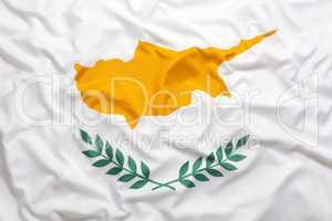 Textile flag of Cyprus