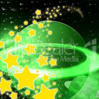 Stars Background Represents Cosmic Space And Abstract