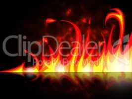 Fire Night Shows Blaze Bonfire And Flame