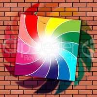 Brick Wall Indicates Brick-Wall Spectrum And Masonry