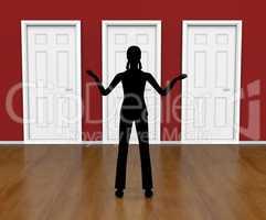 Silhouette Doors Means Doorways Direction And Choose