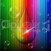 Rain Drop Indicates Color Swatch And Backgrounds
