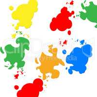 Background Colors Indicates Blots Backdrop And Spatter