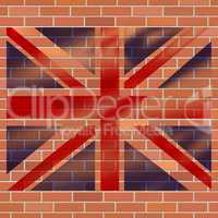 Union Jack Shows Great Britain And Abstract