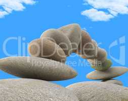 Spa Stones Indicates Relax Wellness And Equilibrium