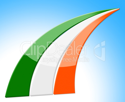 Flag Stripes Means National Nation And Ireland
