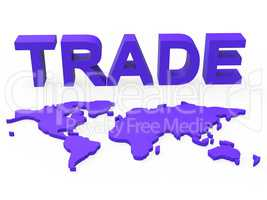 Global Trade Represents Planet Earth And Purchase