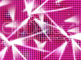 Pink Grid Indicates Lightsbeams Of Light And Entertainment