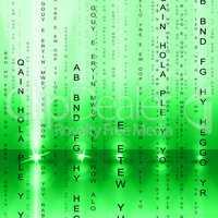 Matrix Tech Means Coding Digital And Hi-Tech