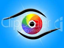 Eye Blue Represents Color Swatch And Colour