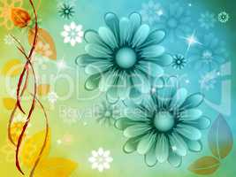 Nature Background Represents Floral Petals And Bloom