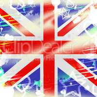 Union Jack Represents British Flag And Backdrop