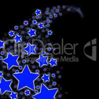 Blue Background Indicates Outer Space And Backdrop
