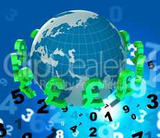 Pounds Forex Indicates Worldwide Trading And Money