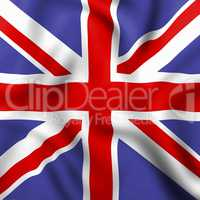 Union Jack Indicates English Flag And Britain