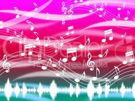 Music Background Means Blues Classical And Melody.