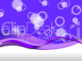 Purple Bubbles Background Means Droplets And Curves.